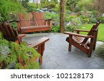 Adirondack Wooden Chairs On A...