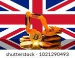bitcoin mining concept ... | Shutterstock . vector #1021290493