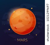 mars planet vector.  | Shutterstock .eps vector #1021299697