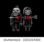 Two Lovers Skeleton Of A Man...