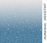 vector water drops on glass.... | Shutterstock .eps vector #1021317247