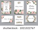 floral invitation  greeting... | Shutterstock .eps vector #1021322767