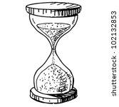 sand glass clock. hand drawing... | Shutterstock .eps vector #102132853