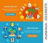 vacation travel flat horizontal ... | Shutterstock . vector #1021350373