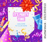 club party announcement...   Shutterstock . vector #1021353313
