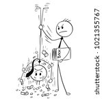 cartoon stick man drawing... | Shutterstock .eps vector #1021355767