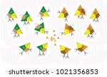 abstract set triangles mosaic... | Shutterstock .eps vector #1021356853