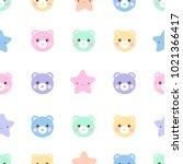 seamless pattern of cute pastel ...   Shutterstock . vector #1021366417