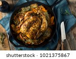 herby homemade rustic whole... | Shutterstock . vector #1021375867