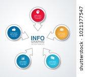vector infographic template for ... | Shutterstock .eps vector #1021377547