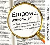 empower definition magnifier... | Shutterstock . vector #102141613