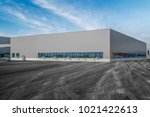 modern factory buildings and... | Shutterstock . vector #1021422613