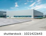 modern factory buildings and... | Shutterstock . vector #1021422643