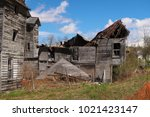 large  unsafe abandoned...   Shutterstock . vector #1021423147