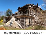 large  unsafe abandoned...   Shutterstock . vector #1021423177