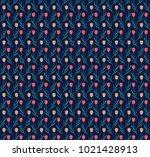 flower blossom repetition...   Shutterstock .eps vector #1021428913