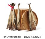 dried pollack on the white... | Shutterstock . vector #1021432027