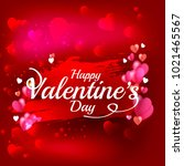 illustration of valentines day... | Shutterstock .eps vector #1021465567