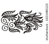 floral pattern. vector... | Shutterstock .eps vector #1021480123