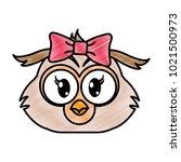 grated female owl head cute... | Shutterstock .eps vector #1021500973