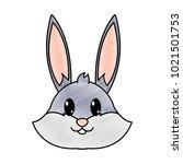 grated rabbit head cute animal... | Shutterstock .eps vector #1021501753