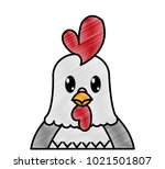 grated adorable rooster cute... | Shutterstock .eps vector #1021501807