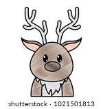 grated adorable reindeer cute... | Shutterstock .eps vector #1021501813