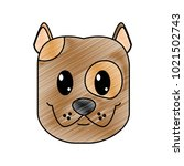 grated happy dog head cute... | Shutterstock .eps vector #1021502743
