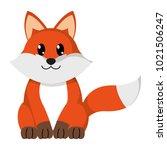 colorful fox cute wild animal... | Shutterstock .eps vector #1021506247