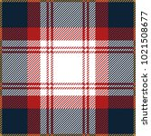 blue and red tartan plaid... | Shutterstock .eps vector #1021508677