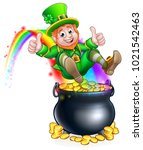 a cute st patricks day... | Shutterstock .eps vector #1021542463