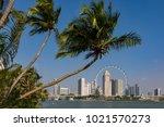 marina bay singapore asia...   Shutterstock . vector #1021570273