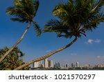 marina bay singapore asia...   Shutterstock . vector #1021570297