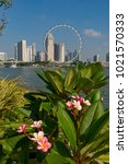 marina bay singapore asia...   Shutterstock . vector #1021570333