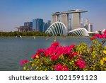 marina bay singapore asia...   Shutterstock . vector #1021591123