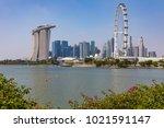 marina bay singapore asia...   Shutterstock . vector #1021591147