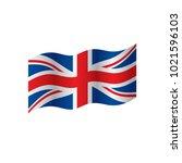 flag of the united kingdom ... | Shutterstock .eps vector #1021596103