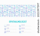 ophthalmologist concept with...   Shutterstock .eps vector #1021597597