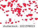 red and pink heart. valentine's ... | Shutterstock . vector #1021598023