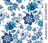 luxurious seamless oriental...   Shutterstock .eps vector #1021600363