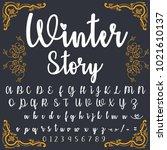 vector set of handwritten abc ...   Shutterstock .eps vector #1021610137