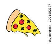 slice of pizza illustration | Shutterstock . vector #1021652377