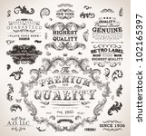 retro labels and vintage badges ... | Shutterstock .eps vector #102165397