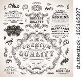 retro labels and vintage badges ... | Shutterstock .eps vector #102165397