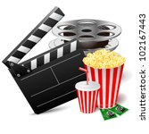 vector illustration of cinema... | Shutterstock .eps vector #102167443