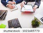 team job. hand closeup photo... | Shutterstock . vector #1021685773