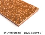 the back of a chocolate bar on... | Shutterstock . vector #1021685953