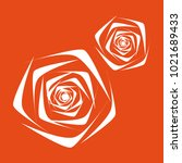 rose. vector flower. beautiful...   Shutterstock .eps vector #1021689433