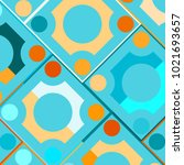 colorful mosaic background with ... | Shutterstock .eps vector #1021693657