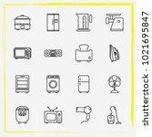 home appliances line icon set...   Shutterstock .eps vector #1021695847